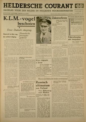 Heldersche Courant 1939-09-27