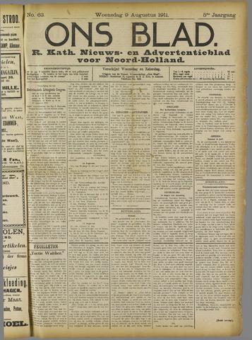 Ons Blad : katholiek nieuwsblad voor N-H 1911-08-09