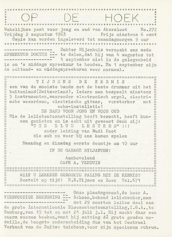 Op De Hoek, weekblad voor Akersloot 1963-08-02