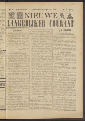 Nieuwe Langedijker Courant 1922-09-21