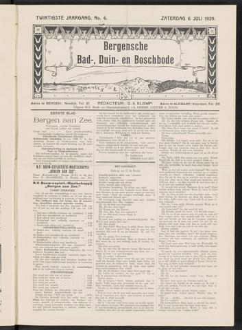 Bergensche bad-, duin- en boschbode 1929-07-06