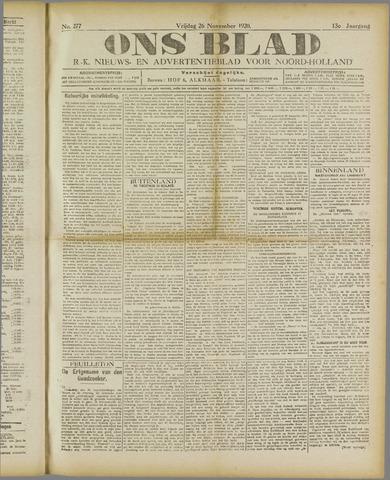 Ons Blad : katholiek nieuwsblad voor N-H 1920-11-26