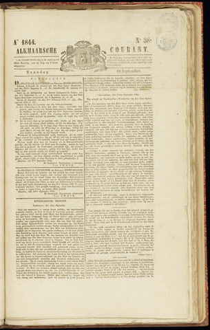 Alkmaarsche Courant 1844-09-16