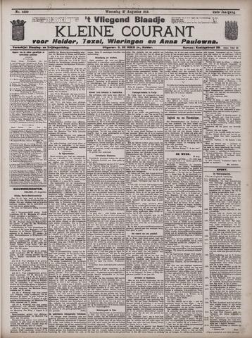 Vliegend blaadje : nieuws- en advertentiebode voor Den Helder 1913-08-27