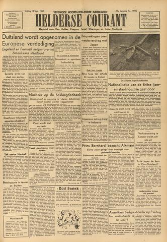Heldersche Courant 1950-09-15