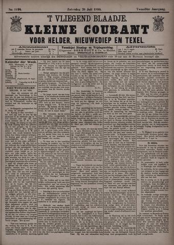 Vliegend blaadje : nieuws- en advertentiebode voor Den Helder 1884-07-26