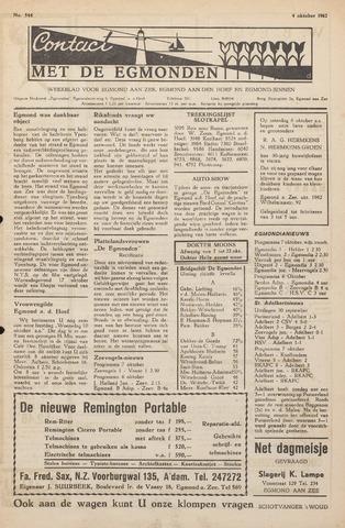 Contact met de Egmonden 1962-10-04