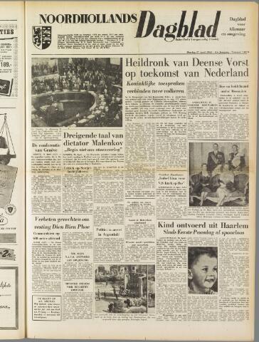 Noordhollands Dagblad : dagblad voor Alkmaar en omgeving 1954-04-27