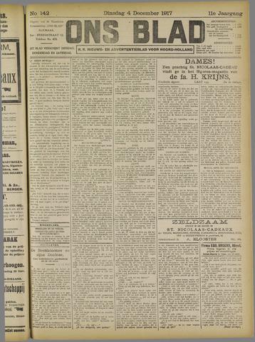 Ons Blad : katholiek nieuwsblad voor N-H 1917-12-04