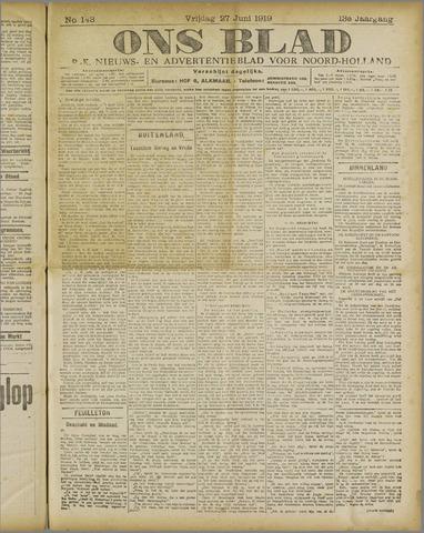 Ons Blad : katholiek nieuwsblad voor N-H 1919-06-27