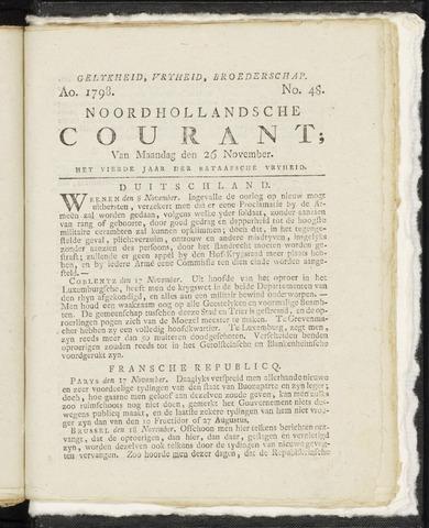 Noordhollandsche Courant 1798-11-26
