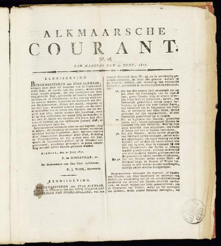 Alkmaarsche Courant 1817-06-30