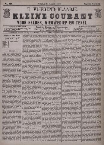 Vliegend blaadje : nieuws- en advertentiebode voor Den Helder 1881-01-21