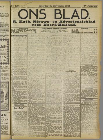 Ons Blad : katholiek nieuwsblad voor N-H 1912-11-30