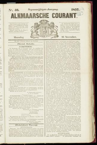 Alkmaarsche Courant 1857-11-16