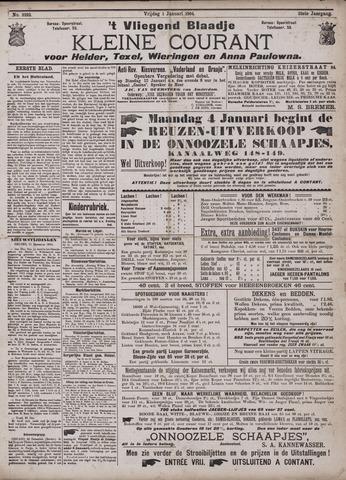 Vliegend blaadje : nieuws- en advertentiebode voor Den Helder 1904-01-01