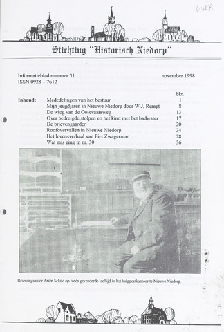 Informatieblad stichting Historisch Niedorp 1998-11-01
