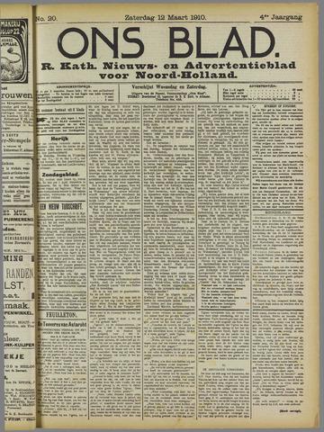 Ons Blad : katholiek nieuwsblad voor N-H 1910-03-12