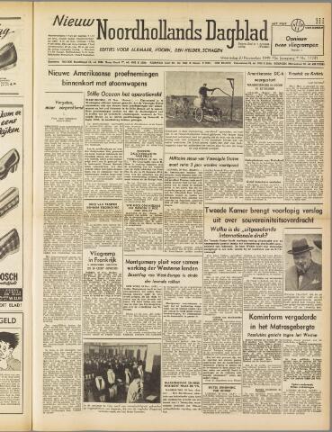 Nieuw Noordhollandsch Dagblad : voor Alkmaar en omgeving 1949-11-30