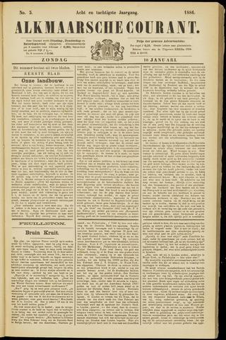Alkmaarsche Courant 1886-01-10