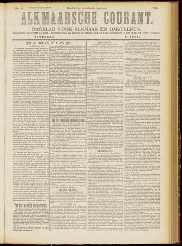 Alkmaarsche Courant 1915-04-17