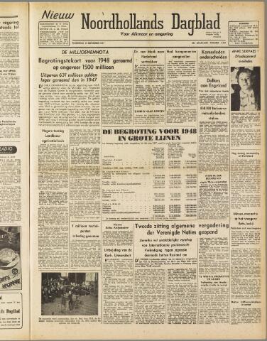 Nieuw Noordhollandsch Dagblad : voor Alkmaar en omgeving 1947-09-17
