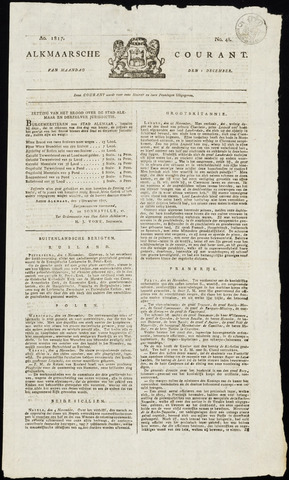 Alkmaarsche Courant 1817-12-01