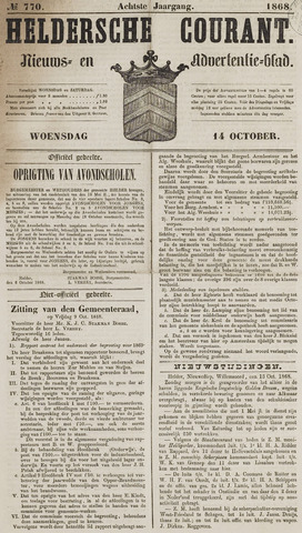 Heldersche Courant 1868-10-14