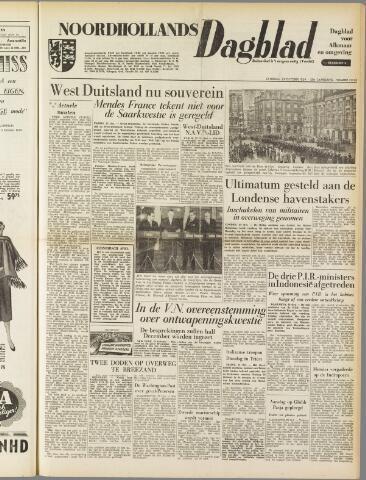Noordhollands Dagblad : dagblad voor Alkmaar en omgeving 1954-10-23