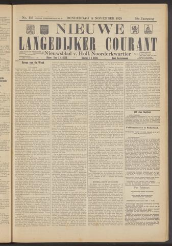 Nieuwe Langedijker Courant 1929-11-14