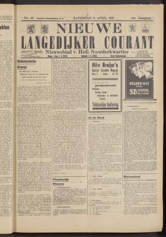 Nieuwe Langedijker Courant 1931-04-11