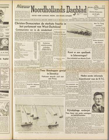 Nieuw Noordhollandsch Dagblad : voor Alkmaar en omgeving 1949-08-16