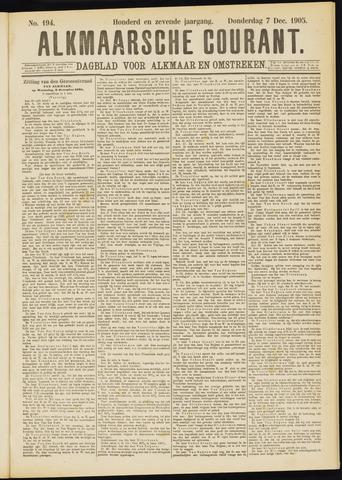 Alkmaarsche Courant 1905-12-07