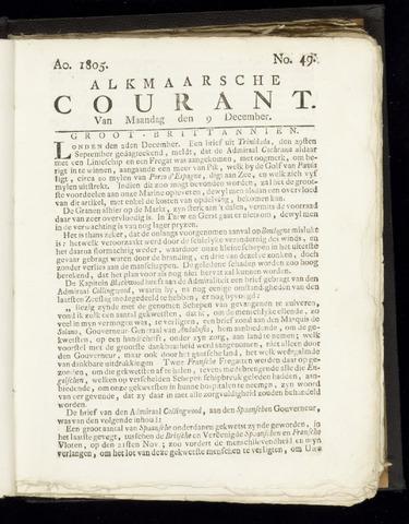 Alkmaarsche Courant 1805-12-09