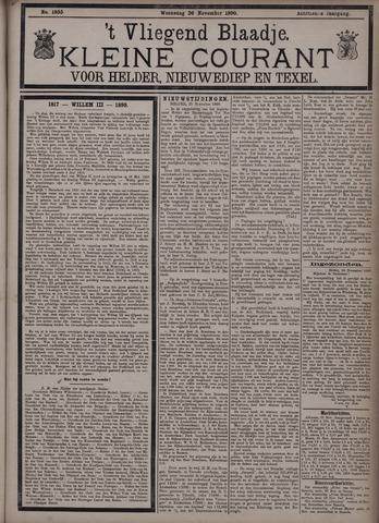 Vliegend blaadje : nieuws- en advertentiebode voor Den Helder 1890-11-26