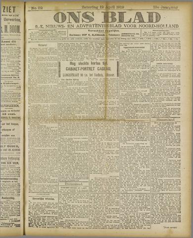 Ons Blad : katholiek nieuwsblad voor N-H 1919-04-12