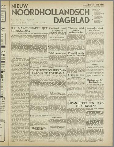 Nieuw Noordhollandsch Dagblad : voor Alkmaar en omgeving 1945-07-30