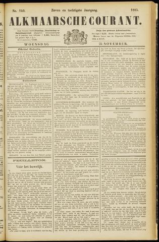 Alkmaarsche Courant 1885-11-25