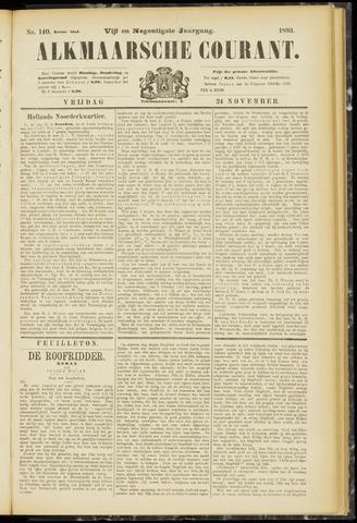 Alkmaarsche Courant 1893-11-24