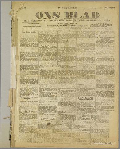 Ons Blad : katholiek nieuwsblad voor N-H 1920-07-01
