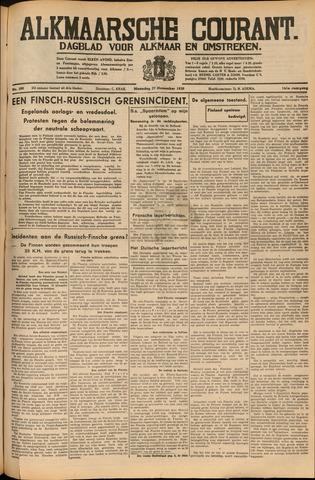 Alkmaarsche Courant 1939-11-27