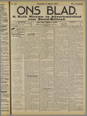Ons Blad : katholiek nieuwsblad voor N-H 1916-03-14