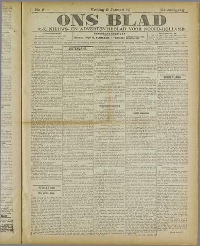 Ons Blad : katholiek nieuwsblad voor N-H 1920-01-09