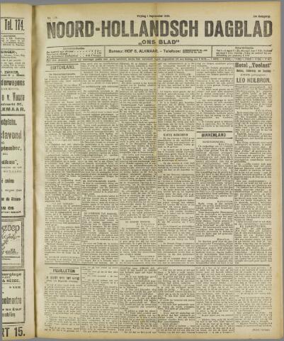 Ons Blad : katholiek nieuwsblad voor N-H 1922-09-01