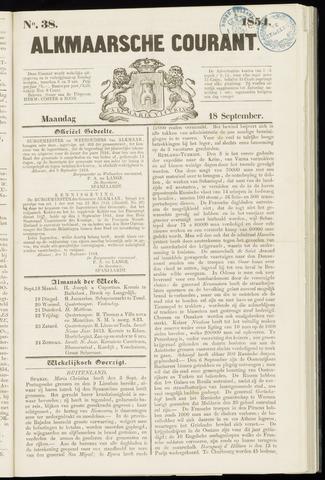Alkmaarsche Courant 1854-09-18