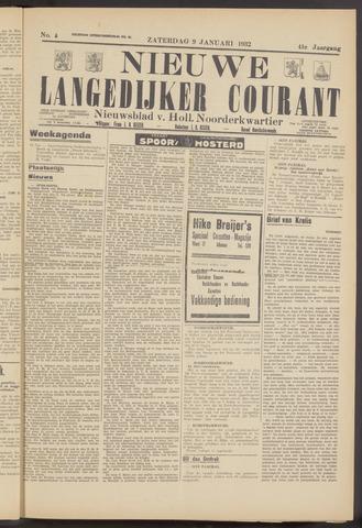 Nieuwe Langedijker Courant 1932-01-09