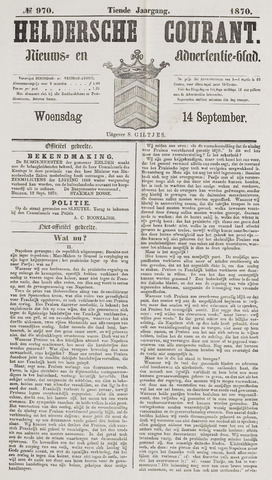 Heldersche Courant 1870-09-14