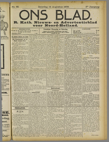 Ons Blad : katholiek nieuwsblad voor N-H 1909-08-14