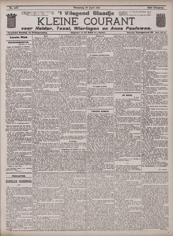 Vliegend blaadje : nieuws- en advertentiebode voor Den Helder 1913-04-30