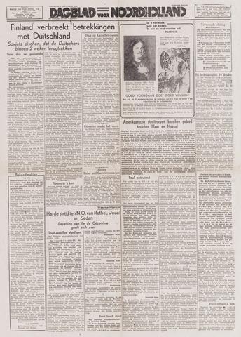Dagblad Noord-Holland, Schager editie 1944-09-04